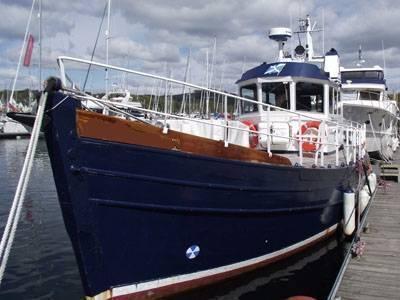 wooden Pilot boat 45, West Scotland
