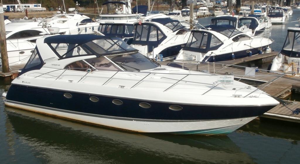 Fairline Targa 43, Hamble River Boat Yard, Hampshire