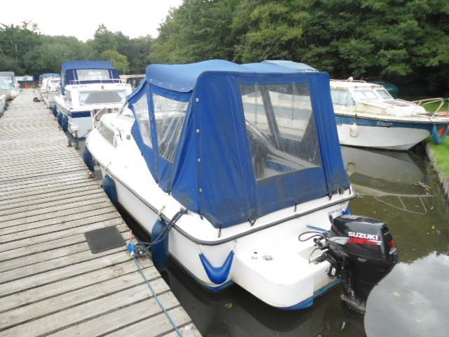 Dolphin 19 GRP River Cruiser, Pyrford Marina on River Wey, Surrey